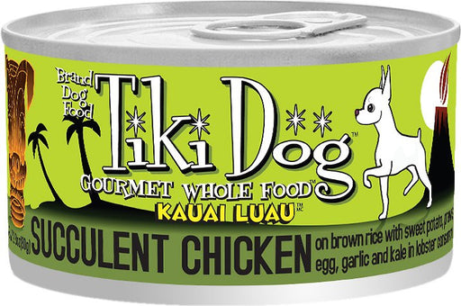 Tiki Dog Kauai Luau Succulent Chicken on Brown Rice with Tiger Prawns Canned Dog Food