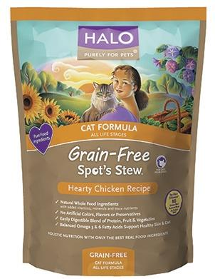 Halo Spot's Stew Grain Free Hearty Chicken Cat Formula Dry Food