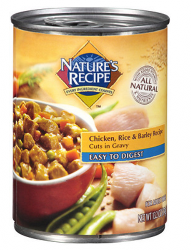 Nature's Recipe Easy to Digest Chicken Rice and Barley Cuts in Gravy Canned Dog Food