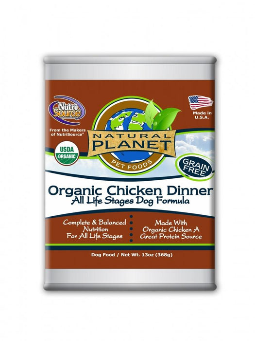 Natural Planet Organic Chicken Dinner Grain Free Canned Dog Food