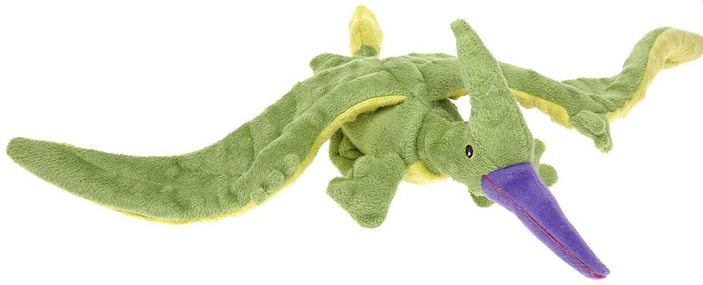 Go Dog Terry the Green Pterodactyl Dog Chew Toy