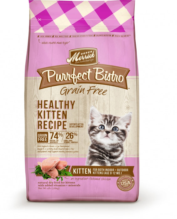 Merrick Purrfect Bistro Healthy Kitten Grain Free Dry Cat Food
