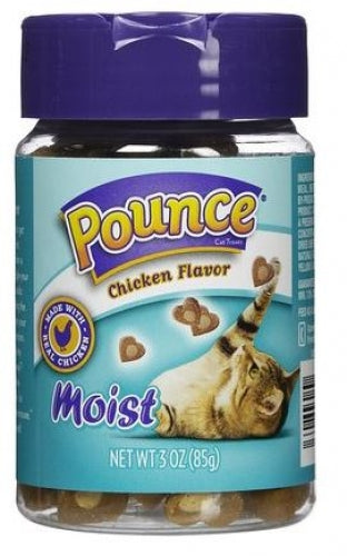 Pounce Chicken Flavor Moist Cat Treats