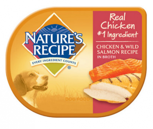 Nature's Recipe Chicken and Wild Salmon Recipe in Broth Wet Dog Food