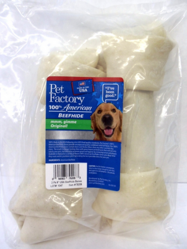 Pet Factory USA Knotted Bone Treats For Dogs