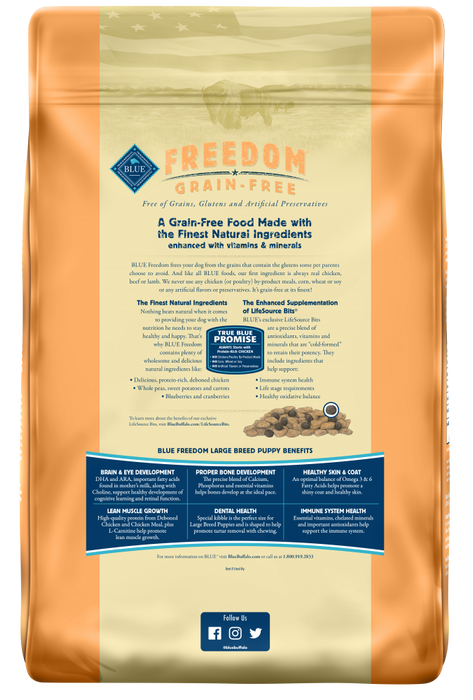 Blue Buffalo Freedom Large Breed Puppy Chicken Recipe Dry Dog Food