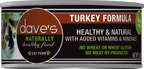 Dave's Naturally Healthy Turkey Formula Canned Cat Food