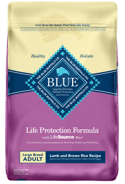 Blue Buffalo Life Protection Large Breed Adult Lamb and Brown Rice Recipe Dry Dog Food