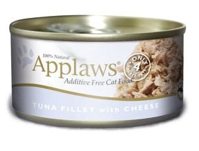 Applaws Additive Free Tuna Fillet with Cheese Canned Cat Food