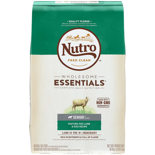 Nutro Wholesome Essentials Senior Pasture-Fed Lamb & Rice Dry Dog Food