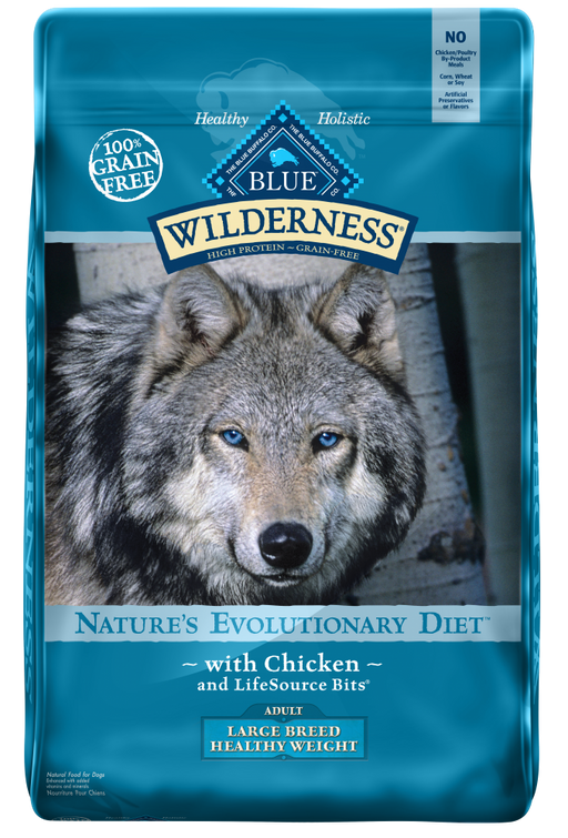 Blue Buffalo Wilderness Grain Free Adult Large Breed Healthy Weight Chicken Dry Dog Food