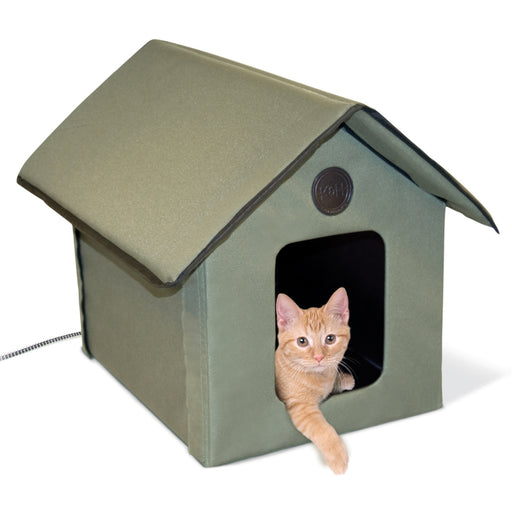 K&H Pet Products Outdoor Thermo Heated Kitty House