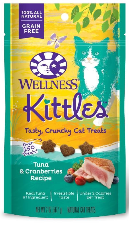 Wellness Kittles Grain Free Tuna and Cranberries Natural Cat Treats