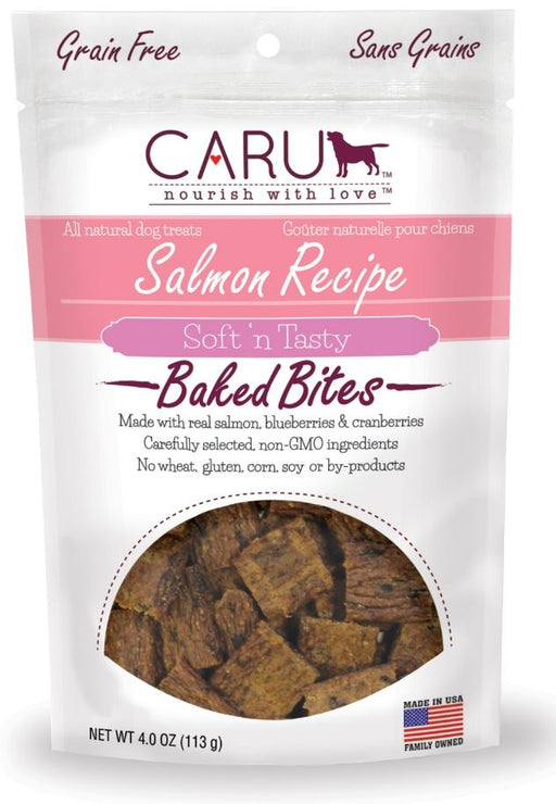 Caru Natural Grain Free Salmon Recipe Bites for Dogs