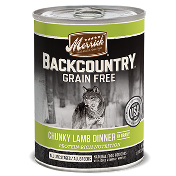 Merrick Backcountry Grain Free Chunky Lamb Canned Dog Food