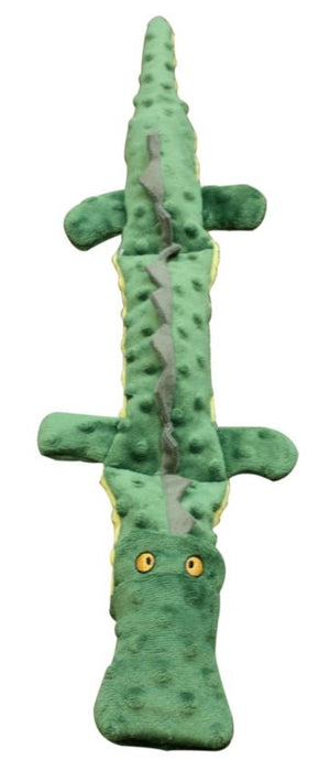 Ethical Pet Skineeez Extreme Triple Squeak Crocodile Dog Toy