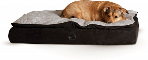 K&H Pet Products Feather Top Orthopedic Black/Gray Pet Bed