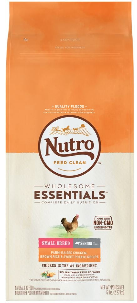Nutro Wholesome Essentials Small Breed Senior Chicken, Whole Brown Rice and Sweet Potato Dry Dog Food