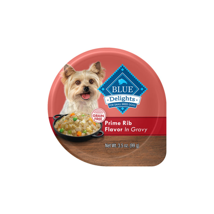 Blue Buffalo Blue Delights Small Breed Prime Rib in Gravy Dog Food Cup