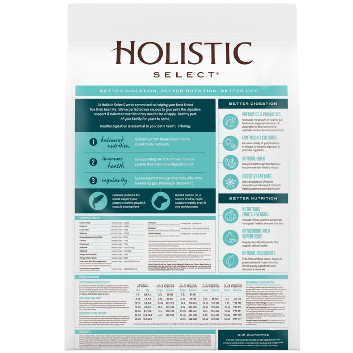 Holistic Select Natural Grain Free Puppy Recipe Anchovy, Sardine and Chicken Meal Dry Dog Food