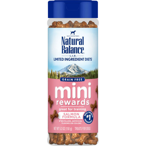 Natural Balance L.I.D Grain Free Mini Rewards Salmon Recipe Dog Training Treats