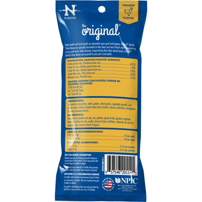 N-Bone The Original Chicken Flavor Chew Bone Dog Treat