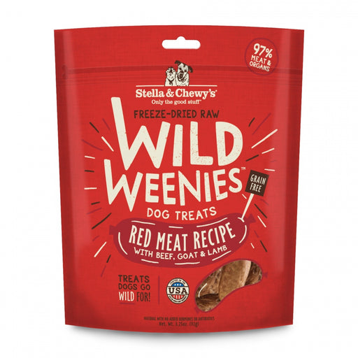 Stella & Chewy's Wild Weenies Grain Free Red Meat Recipe Freeze Dried Raw Dog Treats