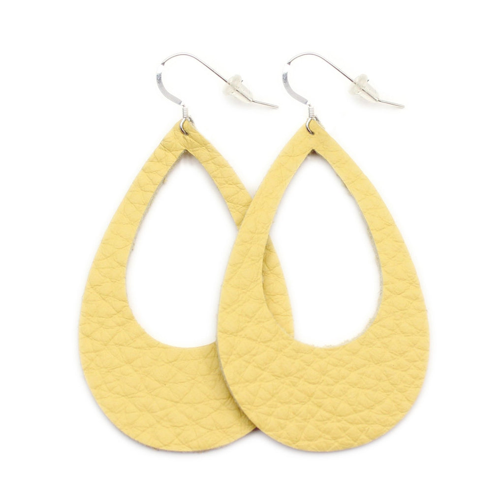 The Eclipse Leather Earring in Yellow