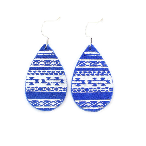 the gatewood collection - earrings - serape - royal blue