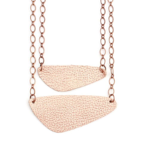 The River Rock Necklace in Copper Rose Gold