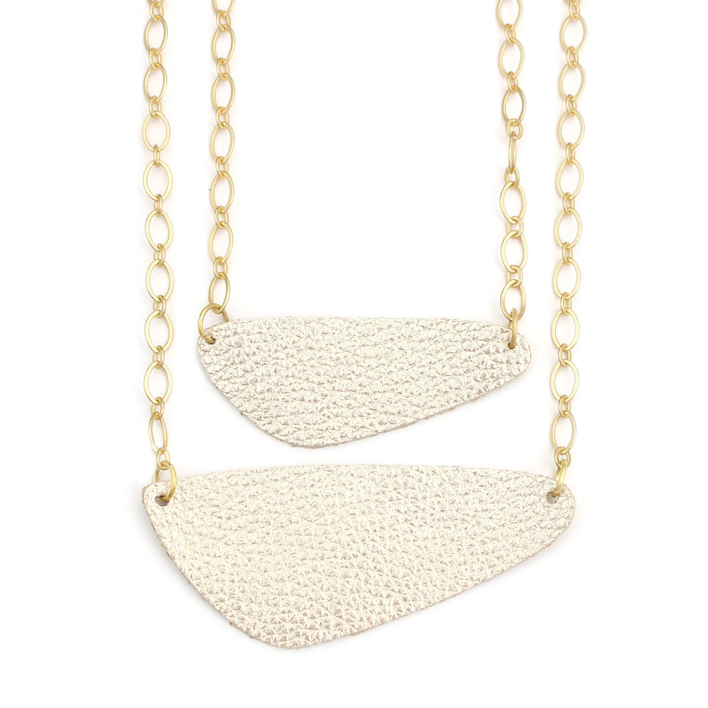 The River Rock Necklace in Gold Foil