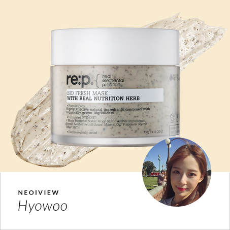RE:P Bio Fresh Mask Real <BR>Nutrition Herbs REVIEW BY Hyowoo