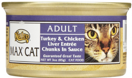 Nutro Max Turkey and Chicken Liver Entree Canned Cat Food