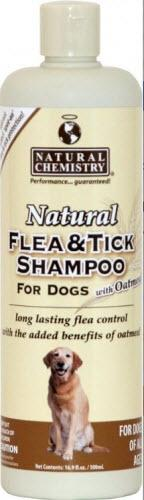 Natural Chemistry Flea and Tick Oatmeal Shampoo for Dogs