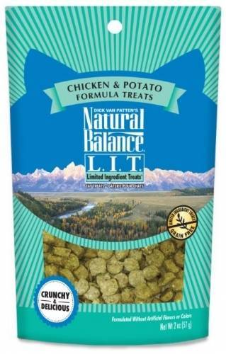 Natural Balance L.I.T. Limited Ingredient Treats Chicken and Potato Formula Cat Treats