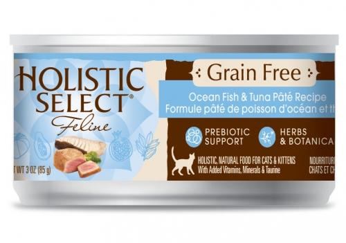 Holistic Select NaturalGrain Free Ocean Fish and Tuna Recipe Wet Canned Cat Food