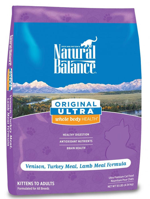 Natural Balance Original Ultra Whole Body Health Venison, Turkey Meal, Lamb Meal Formula Dry Cat Food