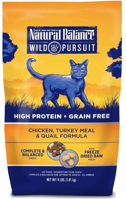 Natural Balance Wild Pursuit Chicken, Turkey Meal and Quail Formula Dry Cat Food