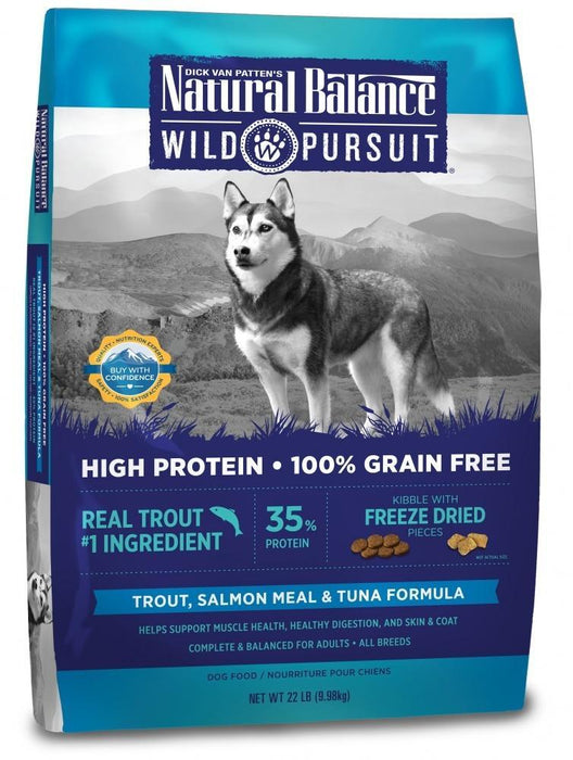 Natural Balance Wild Pursuit Grain Free Trout, Salmon Meal and Tuna Formula Dry Dog Food