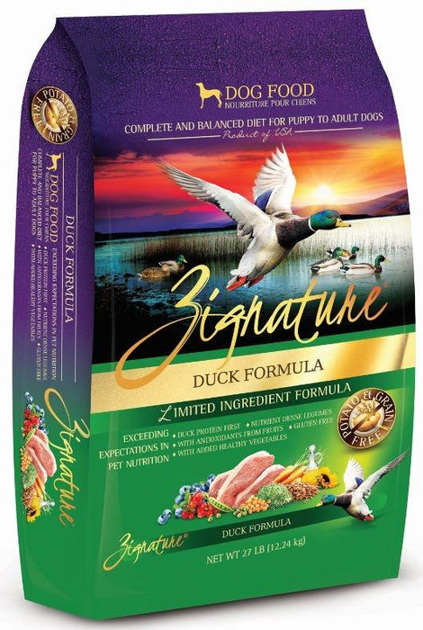 Zignature Duck Limited Ingredient Formula Dry Dog Food