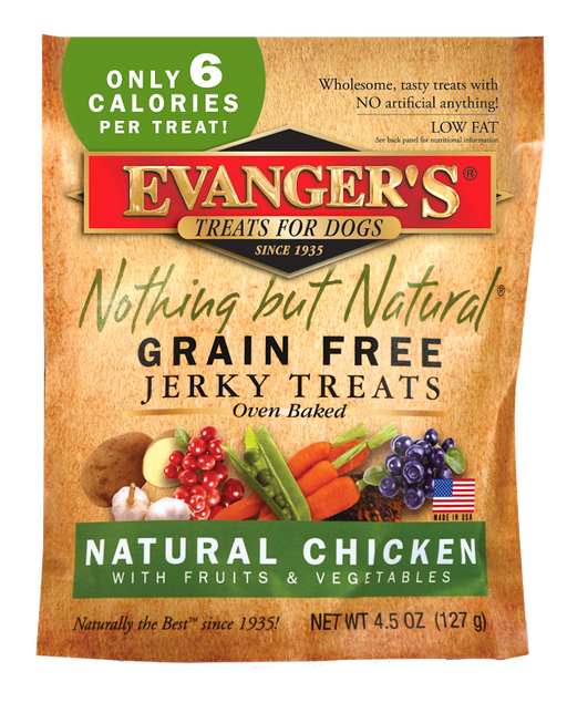 Evanger's Grain Free Organic Chicken with Fruits and Veggies Dog Treats