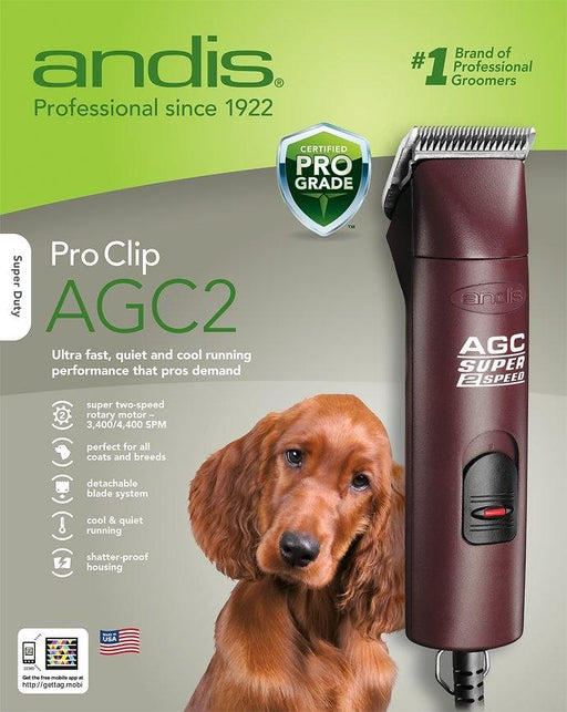 Andis ProClip Super AGC2 2-Speed Detachable Blade Pet Clipper