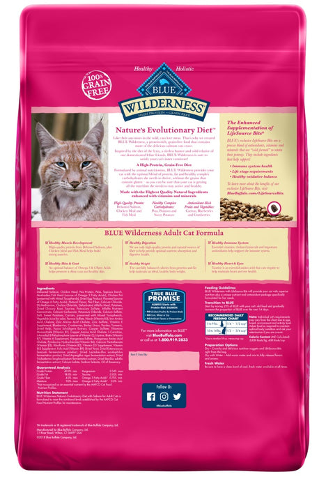 Blue Buffalo Wilderness Grain Free Salmon High Protein Recipe Dry Cat Food