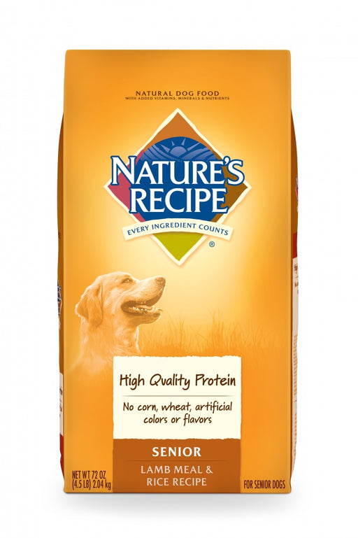 Nature's Recipe Senior Lamb Meal And Rice Recipe Dry Dog Food