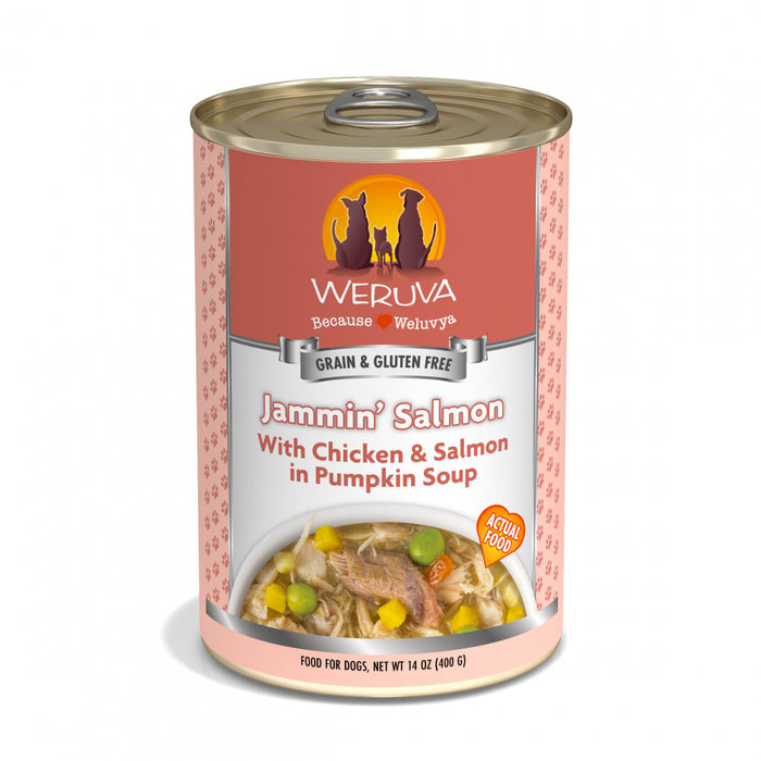 Weruva Jammin Salmon with Chicken & Salmon in Pumpkin Soup Canned Dog Food