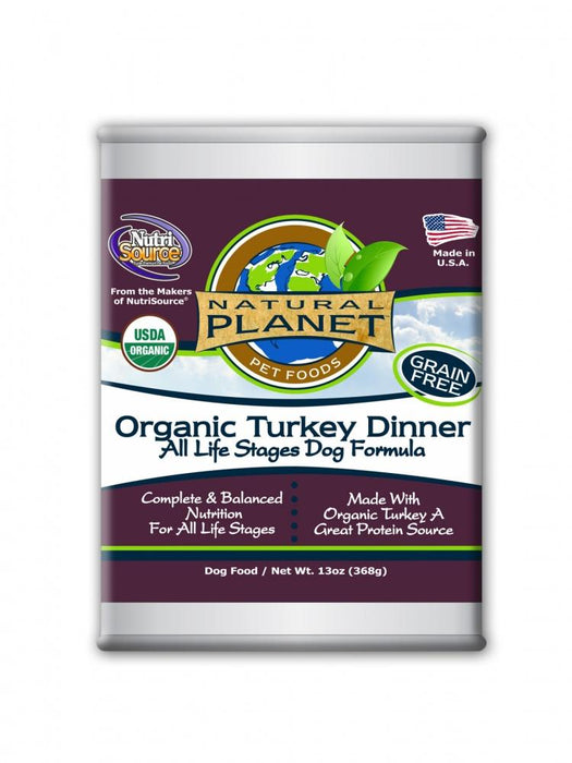 Natural Planet Organic Turkey Dinner Grain Free Canned Dog Food