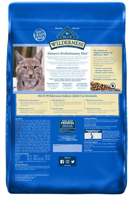 Blue Buffalo Wilderness Grain Free Chicken High Protein Recipe Indoor Dry Cat Food