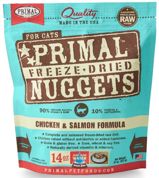 Primal Freeze Dried Nuggets Grain Free Chicken and Salmon Formula Cat Food