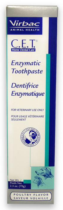 Virbac C.E.T. Enzymatic Pet Toothpaste Poultry Flavor for Dogs and Cats