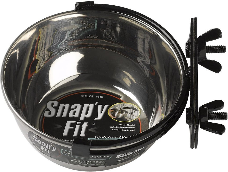 Midwest Stainless Steel Snap'y Fit Water and Feed Bowl